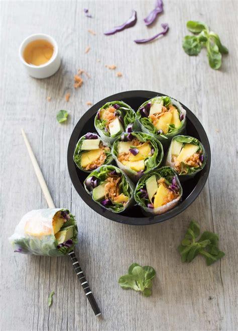 recette cuisine printemps rouleaux de printemps arc en ciel recettes de cuisine