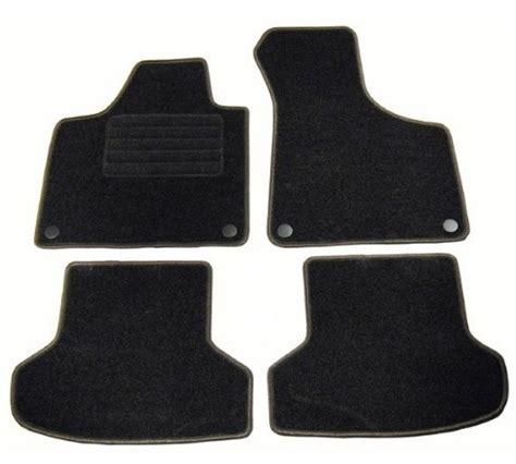4 tapis de sol en velour sur mesure pour audi a3 8p 3p et sportback avec systeme fixation