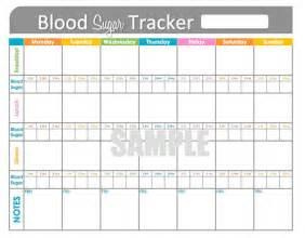 Printable Blood Sugar Tracker