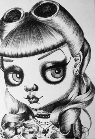 100 Drawings in 100 Days - Goth Alice (With images) | Big