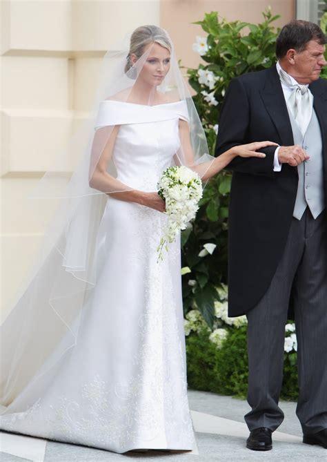 princess charlene  monaco  royal wedding dresses