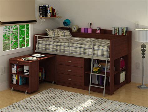 bed with built in desk wooden loft bed with desk most recommended space