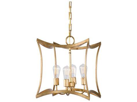 Uttermost Dore Gold Leaf Four-light 15.5'' Wide Pendant