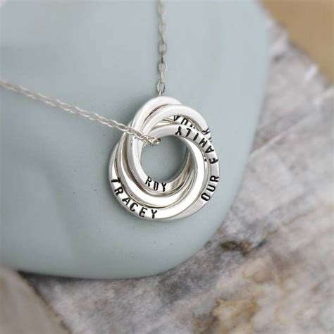 ring ring necklace personalised russian ring necklace by posh totty designs