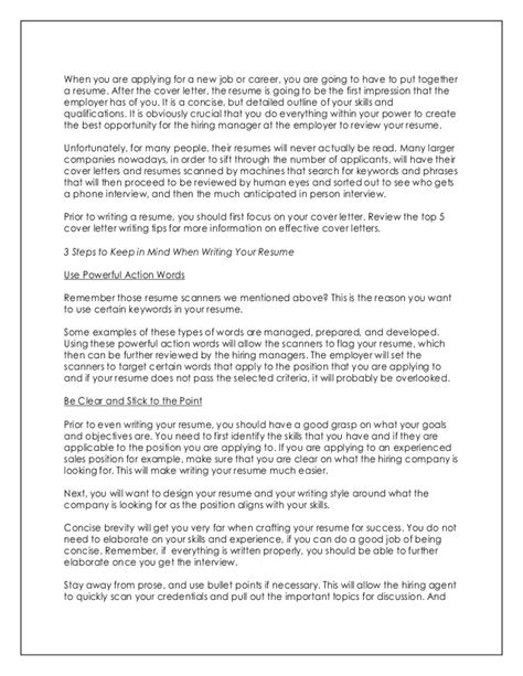 How To Make An Impressive Cover Letter by How To Write Impressive Resume And Cover Letter