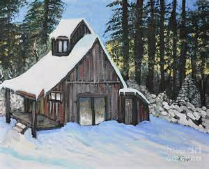 Country Cabin Scene Paintings