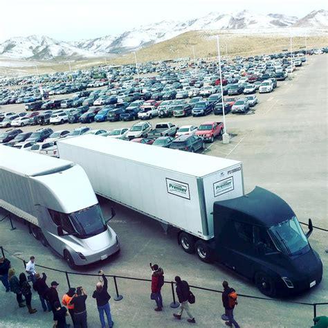 cargo trip   tesla semi  gigafactory