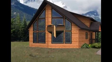 simple home designs with a loft chalet lodge style