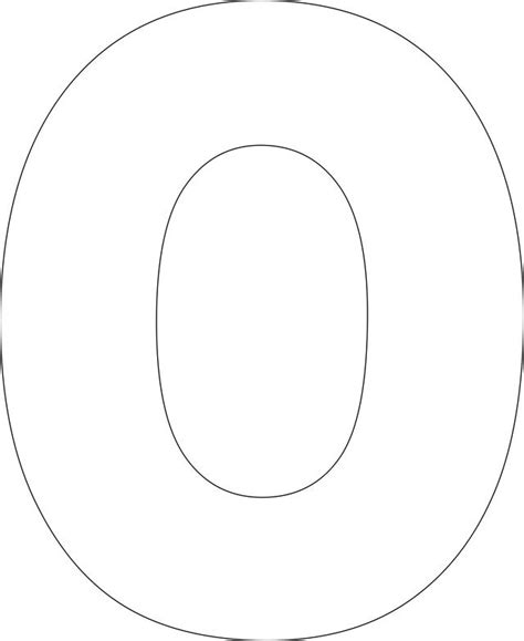 letter o template free printable alphabet template 100 days in 42053