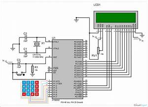 Circuit Diagram For Keypad Interfacing With 8051