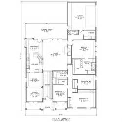 Delightful House Plan With Garage by House Floor Plans With Rear Garage House Floor Plans