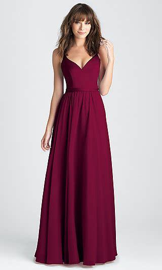 long burgundy red classic formal dress