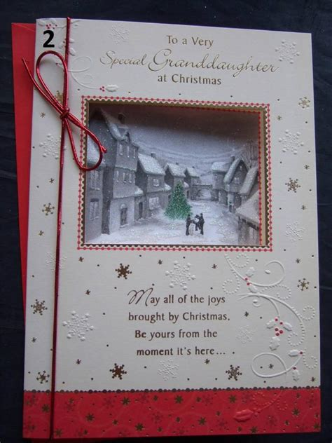 Granddaughter  Quality Christmas Card  With Fabulous