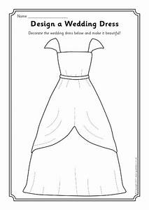 design a wedding dress worksheet sb4089 sparklebox With design a wedding dress