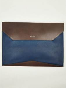 paul smith mens leather envelope document holder in blue With leather envelope document holder