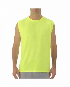 Men 39 S Muscle T Shirt With Rib Trim Fruit Us