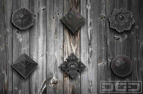iron garage door hardware 04 rustic iron clavos rosettes dynamic garage door