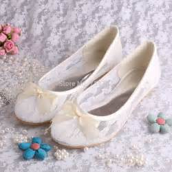 ivory ballet flats wedding free drop shipping ivory lace ballet flats bridal wedding shoes with ribbon bowtie in