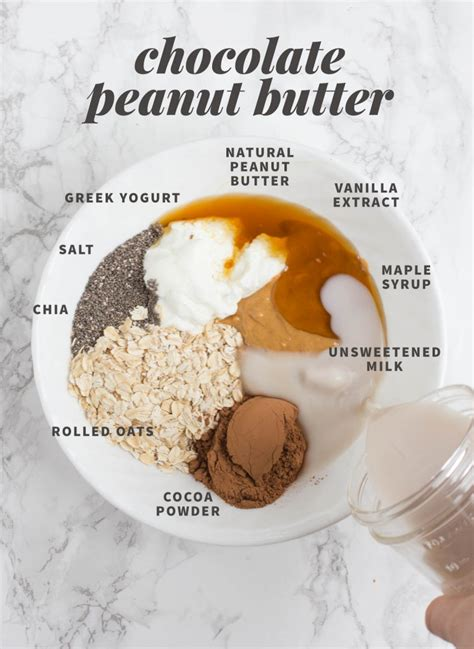 Chocolate Peanut Butter Overnight Oats | KeepRecipes: Your