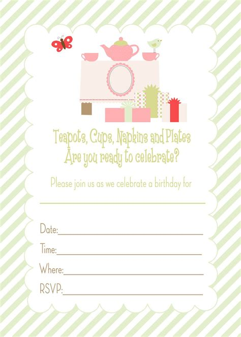 Templates For Invitations by Generic Birthday Invitations