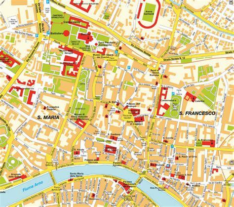 Carte Italie Ville Pise by Pisa Plan