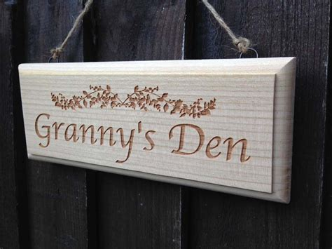 rustic cherry wood signs personalised garden signs