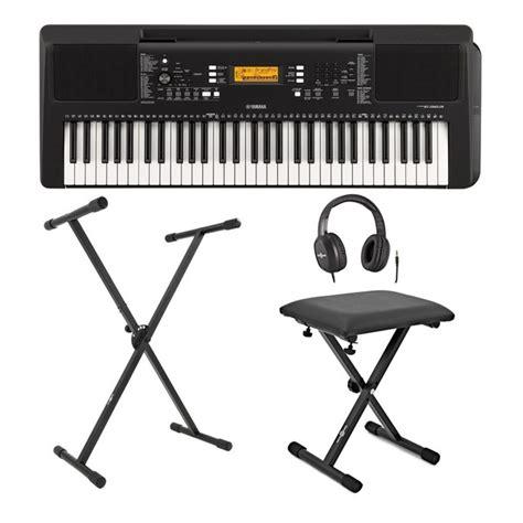 yamaha psr e363 yamaha psr e363 portable keyboard with stand bench and headphones at gear4music