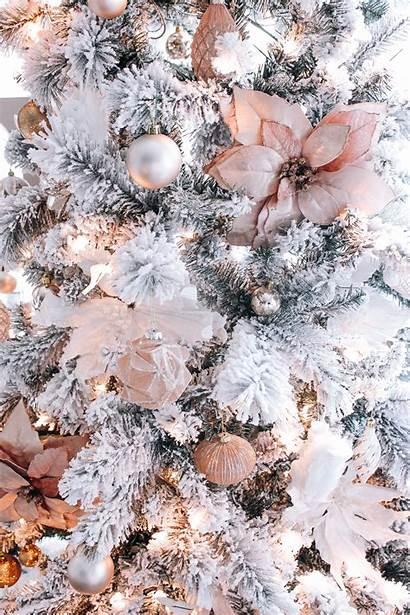 Tree Rose Decorations Blush Xmas Elegant Blondieinthecity