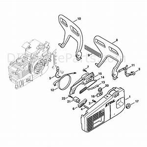 Stihl 020 Chainsaw  020t  Parts Diagram  Chain Sprocket Cover