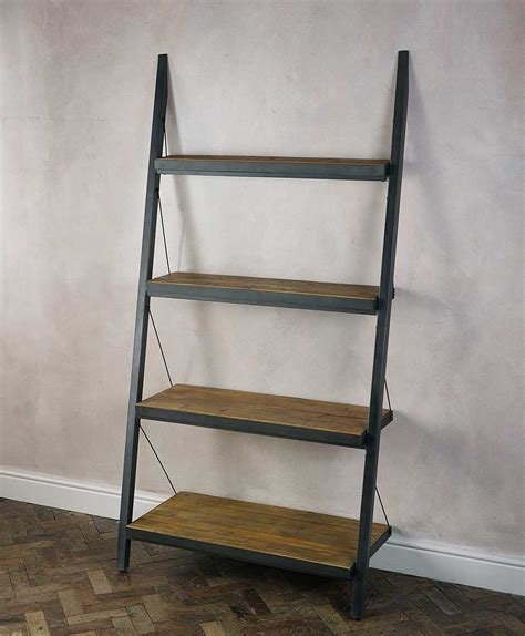 metal ladder shelf metal wood ladder shelf docomomoga
