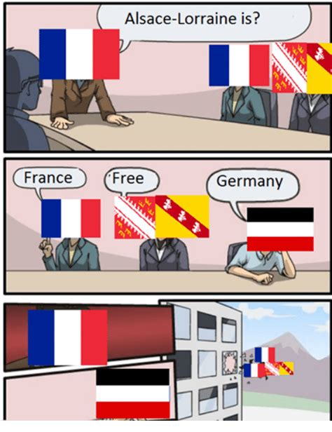 A way of describing cultural information being shared. France Alsace-Lorraine Is? Free Germany | France Meme on ...