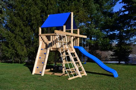 swing sets for small spaces cedar swing sets the bailey space saver climber 8419