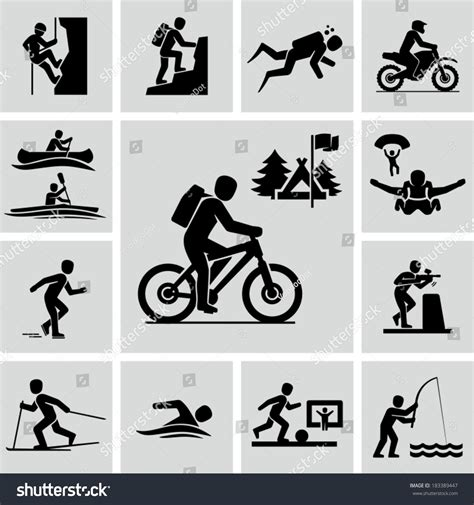 Outdoor Activities Stock Vector 183389447 Shutterstock