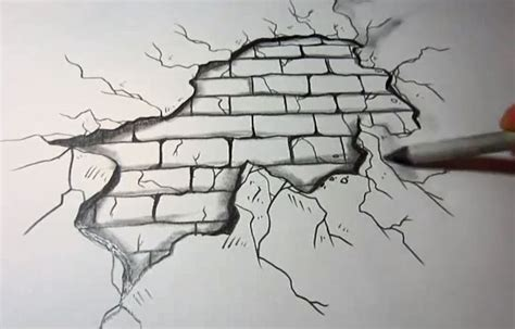 brick wall drawing brick wall sketch search drawings 3d