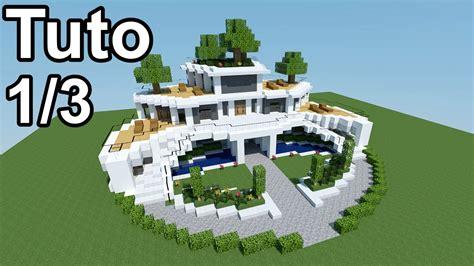 maison moderne minecraft tuto minecraft tutoriel maison moderne 1 3