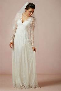 2014 new design white ivory v neck lace sheath chiffon With long sleeve v neck wedding dress