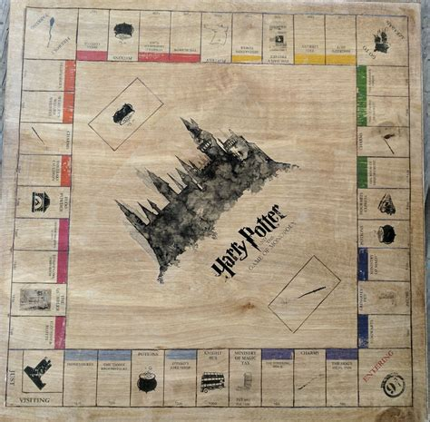 harry potter monopoly board    friends
