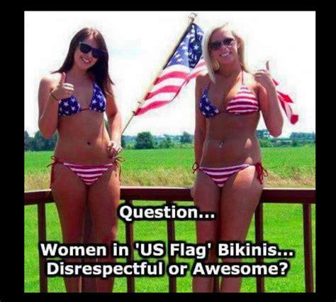 Meme Bikini - meme shows american flag bikini may be disrespectful