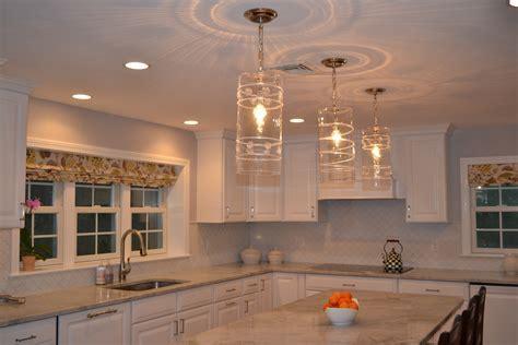 Juliska pendant lights over island   Willow Cir. Kitchen