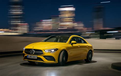 This is sport edition with loud exhaust. Mercedes-Benz CLA-Class AMG CLA 35 2020 | SUV Drive