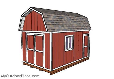 10x16 gambrel shed plans myoutdoorplans free