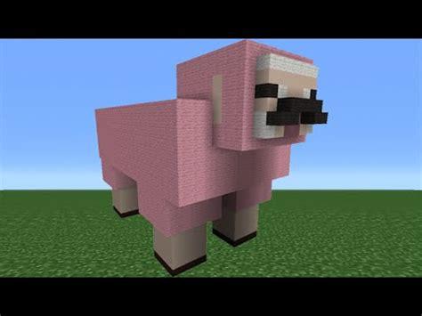 minecraft tutorial     pink sheep statue explodingtnt youtube