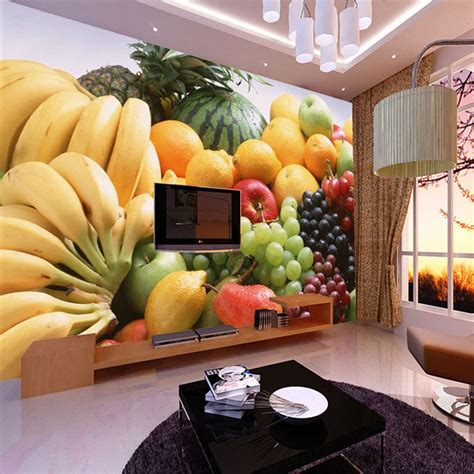 custom  photo wallpaper fruits vegetables decor painting