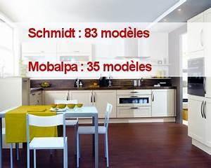 Modele De Cuisine Cuisinella : cuisines schmidt contre mobalpa mod les ~ Premium-room.com Idées de Décoration