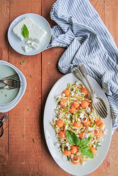 salade de p 226 tes au melon feta et basilic aime mange