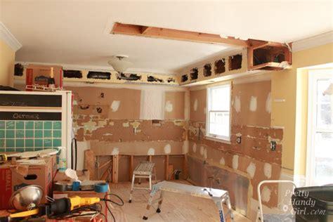 remove  soffit kitchen renovation update