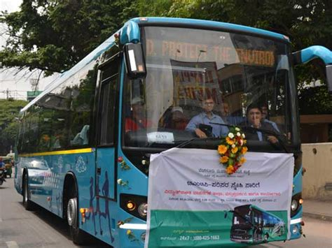 bangalore receives fleet  hybrid volvo buses