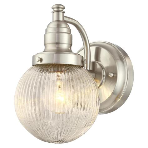 lighting heritage 1 light brushed nickel outdoor