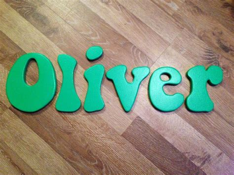 oliver   bubble font personalised wooden letters