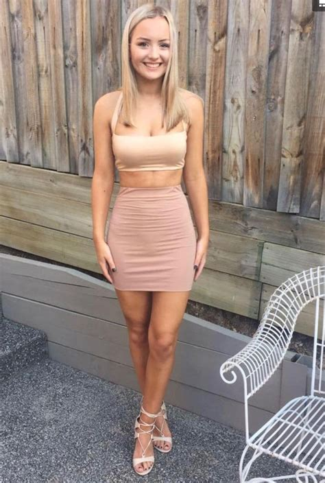 Just Best Legs Suki Links I Her Tight Mini Skirt And